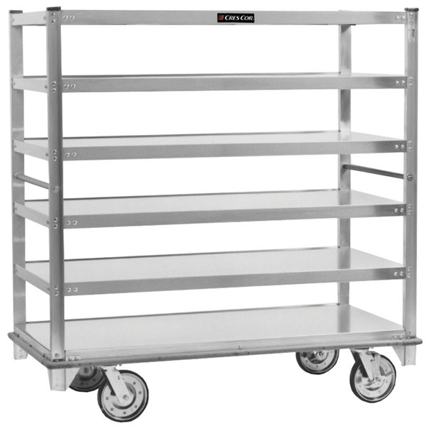 Cres Cor 271-61-5927 Queen Mary Banquet Service Cart with 6 Flat Shelves Main Image 1