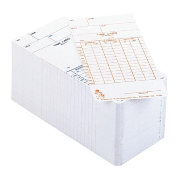 Acroprint 099110000 Weekly or Bi-Weekly Time Card - 250/Pack