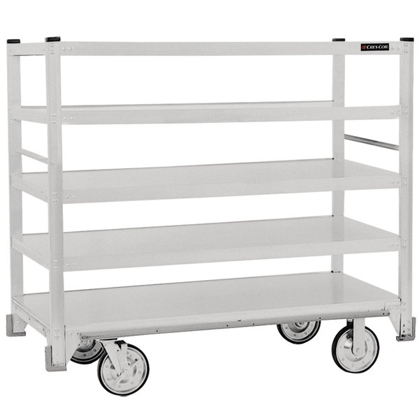 Cres Cor 271-51-5927-Z Correctional Queen Mary Banquet Service Cart with 5 Flat Shelves Main Image 1