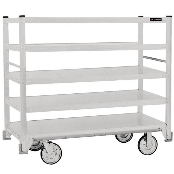 Cres Cor 271-51-5927-Z Correctional Queen Mary Banquet Service Cart with 5 Flat Shelves
