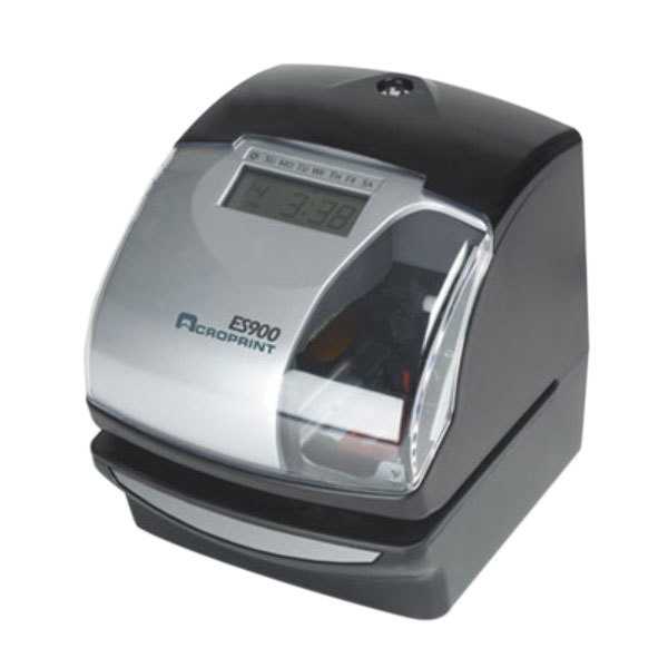 Acroprint 010209000 ES900 Silver and Black Digital Automatic 3-in-1 Time Recorder - 120V Main Image 1