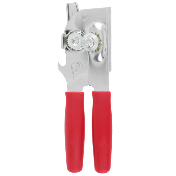 Choice CO47RD Handheld Portable Can Opener - Red Handle