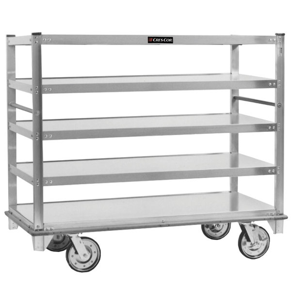 Cres Cor 271-51-5927 Queen Mary Banquet Service Cart with 5 Flat Shelves