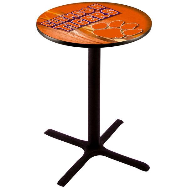 "Holland Bar Stool L211B3628CLMSON-D2 28"" Round Clemson University Pub Table"