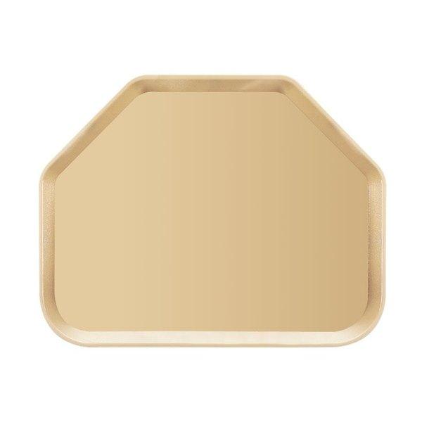 "Cambro 1418CW133 14"" x 18"" Beige Camwear Trapezoid Tray - 12/Case"