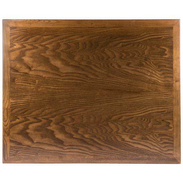 """BFM Seating VN2430AA 24"""" x 30"""" Autumn Ash Veneer Wood Indoor Table Top Main Image 1"""