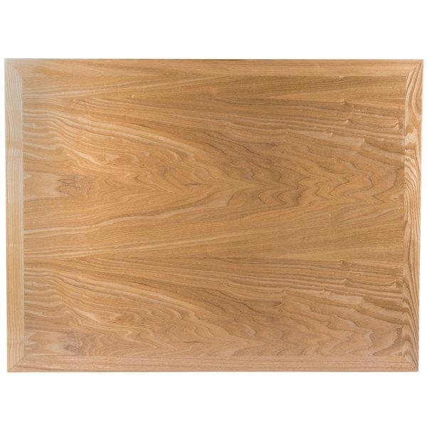 """BFM Seating VN3042NT 30"""" x 42"""" Natural Veneer Wood Indoor Table Top Main Image 1"""