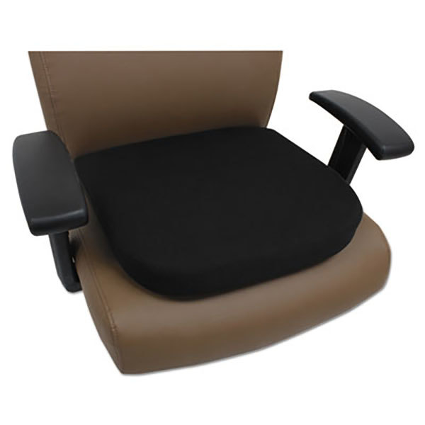 Alera ALECGC511 Black Cooling Gel Memory Foam Seat Cushion