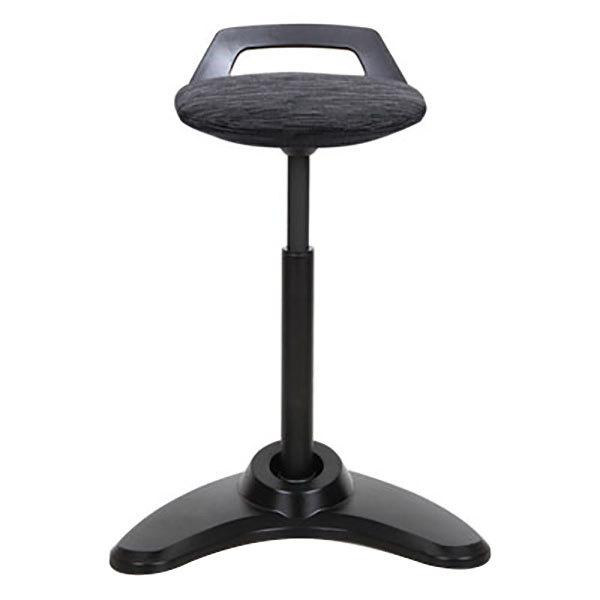 Alera ALEAE35PSBK AdaptivErgo Black Sit to Stand Perch Stool with Black Base Main Image 1