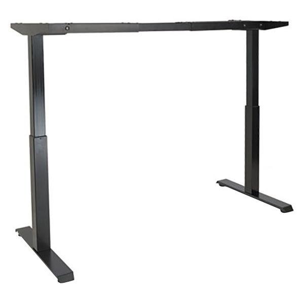 "Alera ALEHT2SSB ActivErgo WorkRise 27 1/4"" to 47 1/4"" Black 2-Stage Electric Adjustable Table Base - 125V Main Image 1"