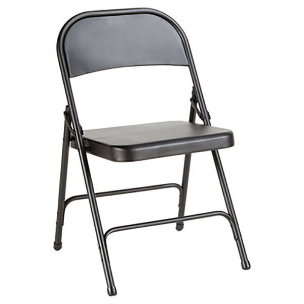 Alera ALEFC94B Graphite Steel Folding Chair - 4/Case