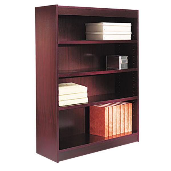 Alera alebcs my quot mahogany wood veneer shelf