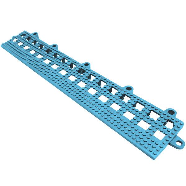"Cactus Mat 2554-PUB Dri-Dek 2"" x 12"" Pool Blue Vinyl Interlocking Beveled Edge Drainage Floor Tile - 9/16"" Thick"