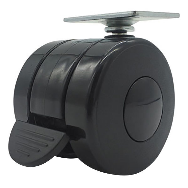 "Alera ALEHT3004 3 3/4"" Black Nylon Casters - 4/Case Main Image 1"