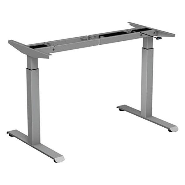 "Alera ALEHT2SSG ActivErgo WorkRise 27 1/4"" to 47 1/4"" Gray 2-Stage Electric Adjustable Table Base - 125V Main Image 1"