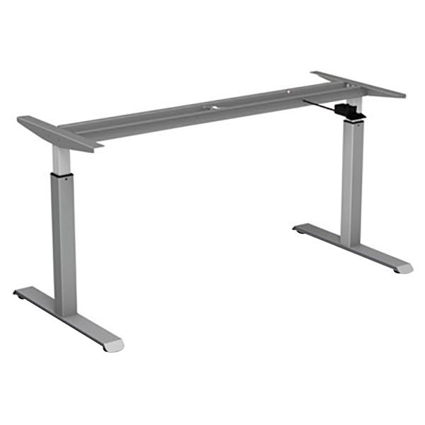 "Alera ALEHTPN1G AdaptivErgo WorkRise 26 1/4"" to 39 5/8"" Gray Pneumatic Height Adjustable Table Base"