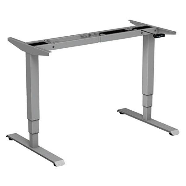 "Alera ALEHT3SAG AdaptivErgo WorkRise 25"" to 50 3/4"" Gray 3-Stage Electric Adjustable Table Base with Memory Controls - 125V Main Image 1"