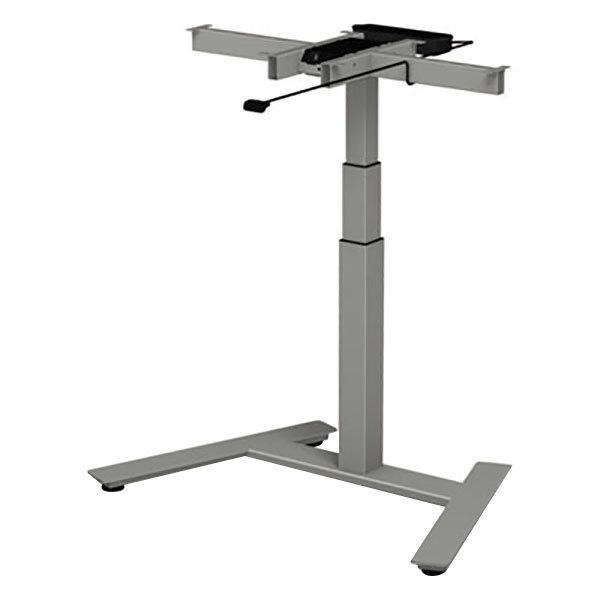 "Alera ALEHT1CSG AdaptivErgo WorkRise 24 3/4"" to 43 1/4"" Gray 3-Stage Single-Column Electric Adjustable Table Base - 125V"