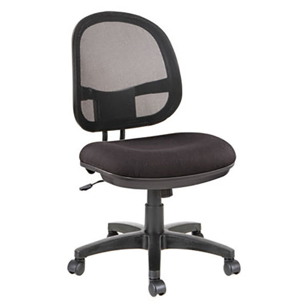 Fabric office chairs with arms Gray Fabric Main Picture Webstaurantstore Alera Alein4814 Interval Black Mesh Fabric Office Chair With Black
