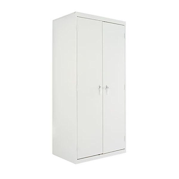 "Alera ALECM7824LG 36"" x 24"" x 78"" Light Gray 2-Door Steel Storage Cabinet with Four Shelves Main Image 1"