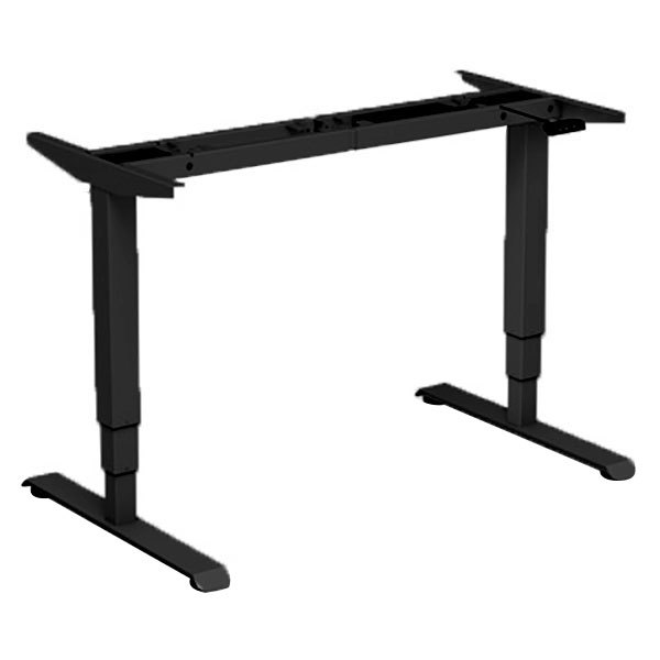 "Alera ALEHT3SAB AdaptivErgo WorkRise 25"" to 50 3/4"" Black 3-Stage Electric Adjustable Table Base with Memory Controls - 125V"