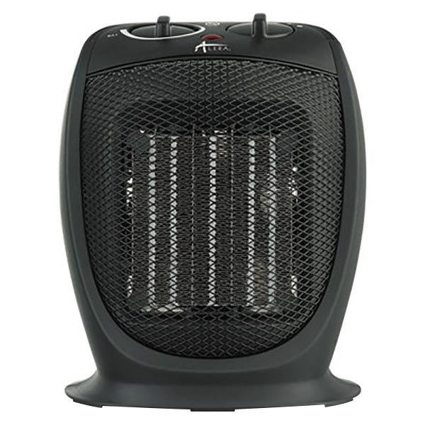 "Alera ALEHECH09 7 1/8"" x 5 7/8"" x 8 3/4"" Black Ceramic Heater - 1500W Main Image 1"