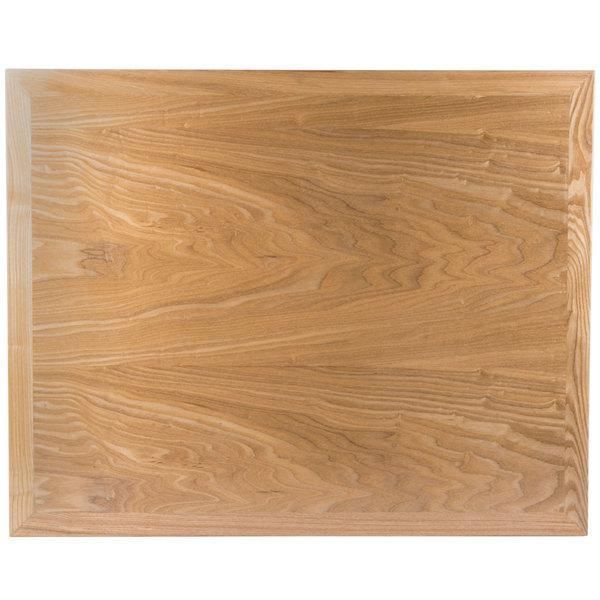 """BFM Seating VN2430NT 24"""" x 30"""" Natural Veneer Wood Indoor Table Top"""