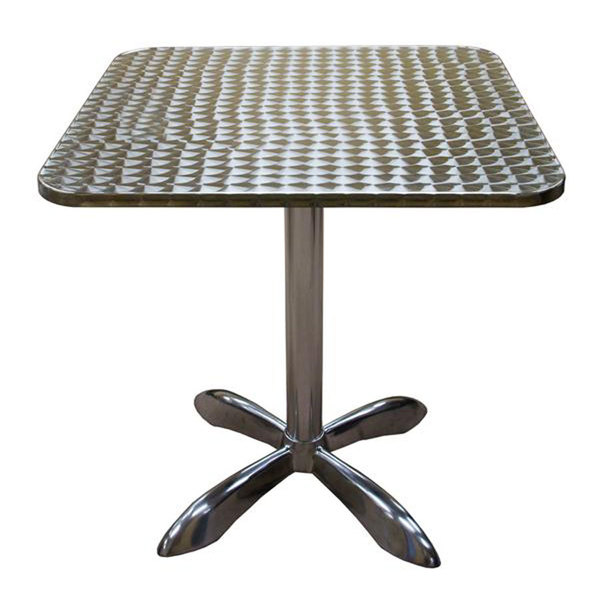 "American Tables & Seating AL3030 27 1/2"" Square Aluminum Table"