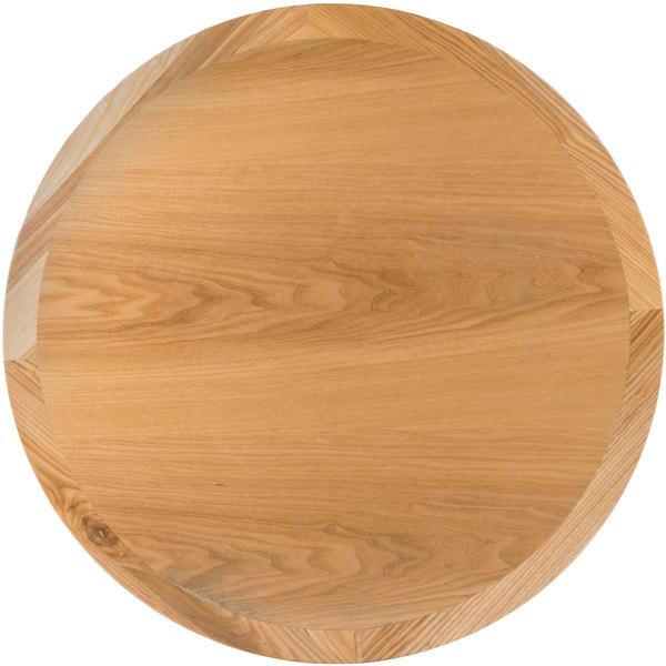 "BFM Seating VN30RNT 30"" Round Natural Ash Veneer Indoor Table Top Main Image 1"