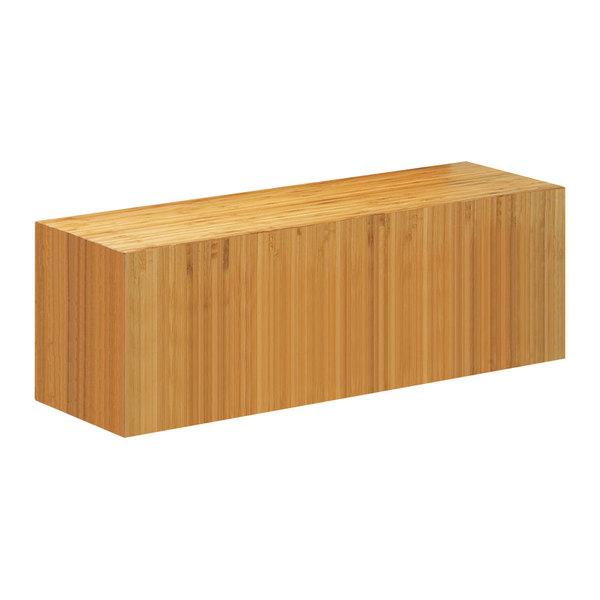 "Cal-Mil 166-7-60 Bamboo Rectangular Plate Riser - 20"" x 7"" x 7"""