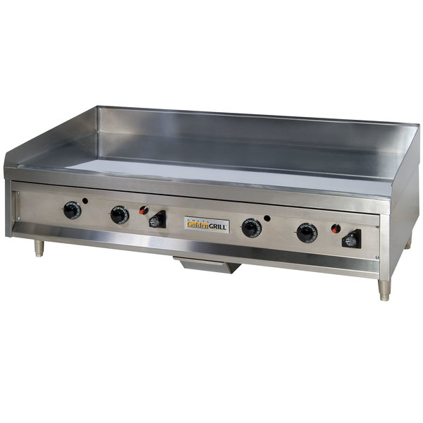 "Anets A24X36AGC 36"" Natural Gas Chrome Countertop Griddle with Thermostatic Controls - 90,000 BTU"