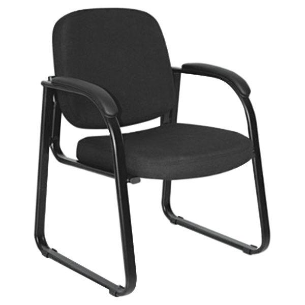 Alera ALERL43C11 Reception Black Fabric Arm Chair