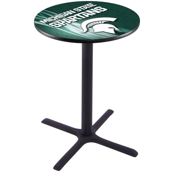 "Holland Bar Stool L211B3628MICHST-D2 28"" Round Michigan State University Pub Table"