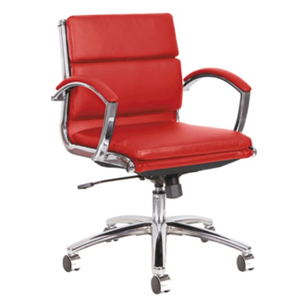 alera alenr4739 neratoli low back red leather office chair