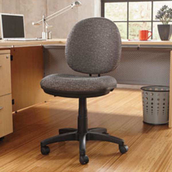 Alera Alein4841 Interval Graphite Gray Fabric Office Chair With Black Swivel Nylon Base