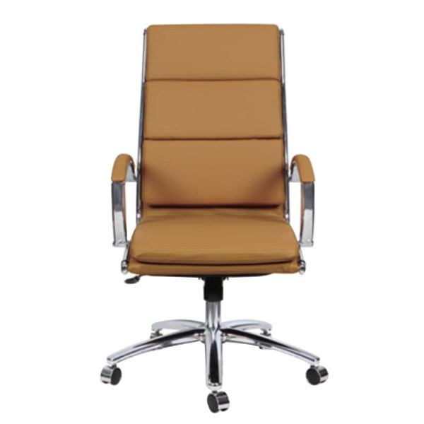 Phenomenal Alera Alenr4159 Neratoli High Back Camel Leather Office Chair With Fixed Arms And Chrome Swivel Base Ocoug Best Dining Table And Chair Ideas Images Ocougorg