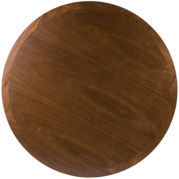 "BFM Seating VN48RAA 48"" Round Autumn Ash Veneer Indoor Table Top"