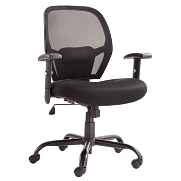 alera alemx4517 merix black mid-back big & tall mesh office chair