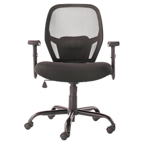 Office Chairs Adjustable Arms alera alemx4517 merix black mid-back big & tall mesh office chair