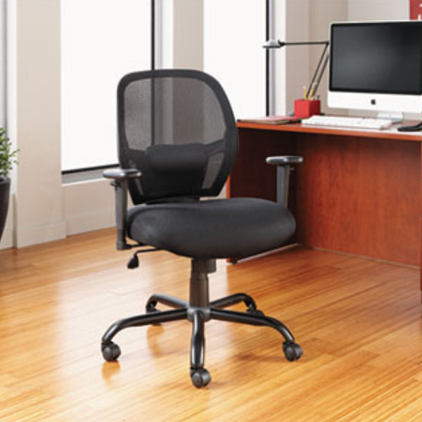ALEMX4517 Merix Black Mid-Back Big & Tall Mesh Office Chair with ...