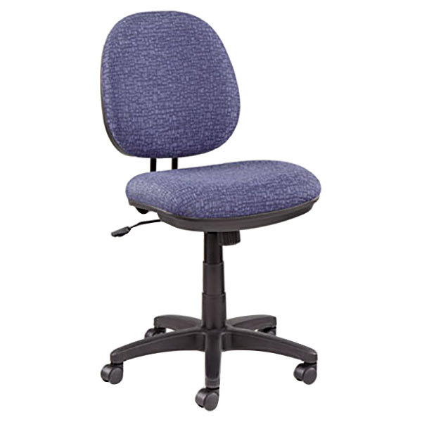 Alera ALEIN4821 Interval Marine Blue Fabric Office Chair with Black Swivel Nylon Base