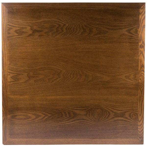 "BFM Seating VN3636AA 36"" Square Autumn Ash Veneer Indoor Table Top"