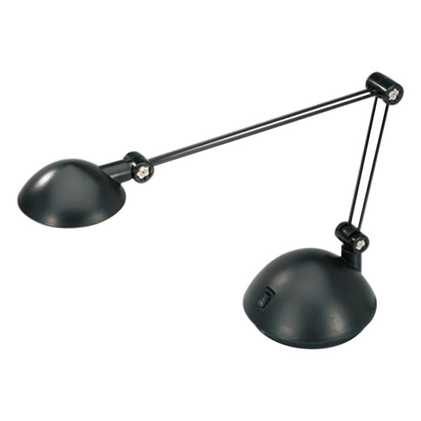 Alera ALELED912B 18 1 2 Black Twin Arm LED Task Lamp With