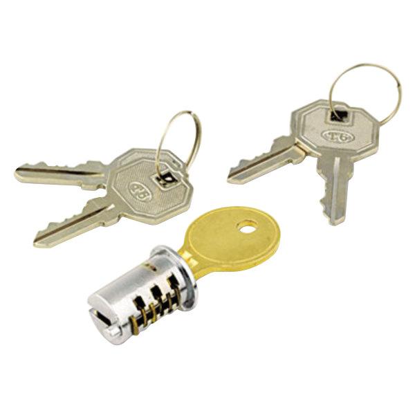 Alera ALEKC501111 Key-Alike Chrome Metal Pedestal File Lock Core Set Main Image 1