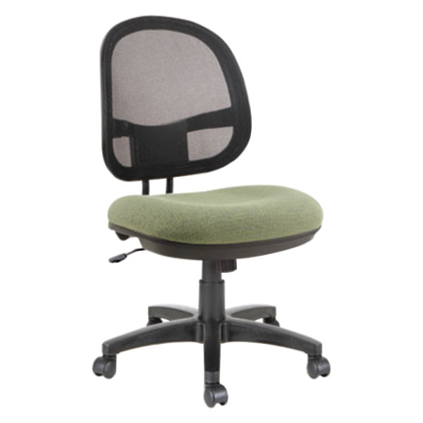 Alera ALEIN4874 Interval Parrot Green Mesh Office Chair with Black Swivel Nylon Base