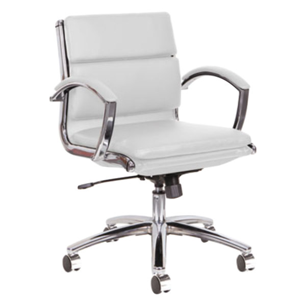 alera alenr4706 neratoli low back white leather office chair with