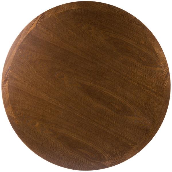 "BFM Seating VN24RAA 24"" Round Autumn Ash Veneer Indoor Table Top"