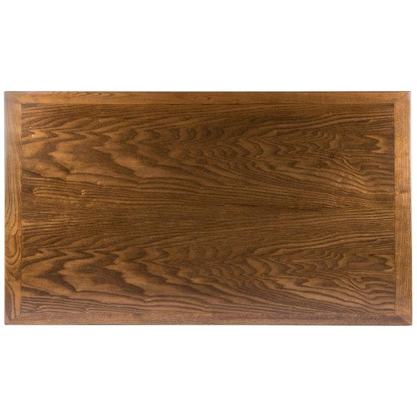 """BFM Seating VN3072AA 30"""" x 72"""" Autumn Ash Veneer Wood Indoor Table Top"""