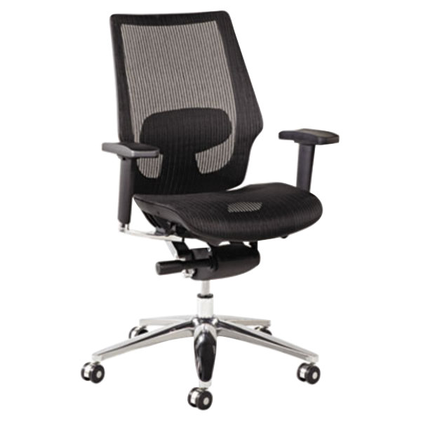 ALEKE4218 K8 Series Black Suspension Mesh Office Chair with ...