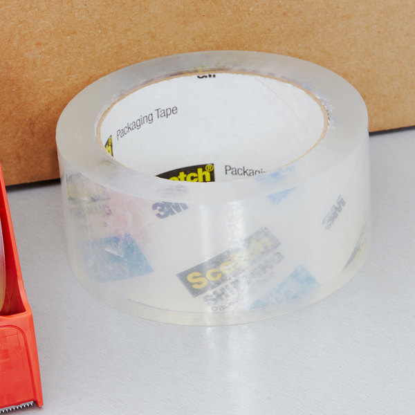 """3M 3850 Scotch® 1 7/8"""" x 54.6 Yards Clear Heavy-Duty Shipping and Packaging Tape"""